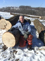 Dad in Feb 2007 by the best White Oak log we've ever sold