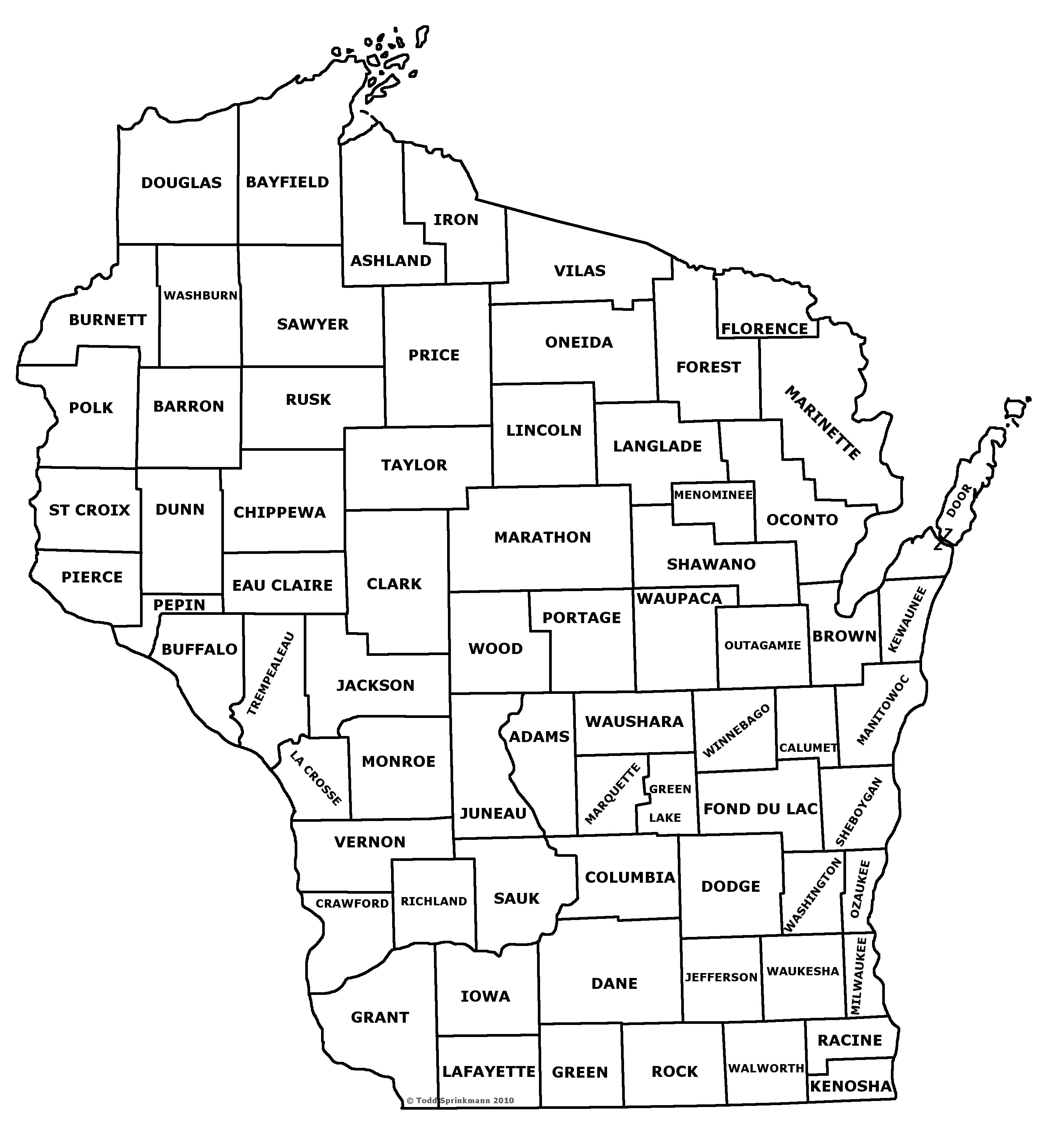 Wisconsin County Map With Names afputracom